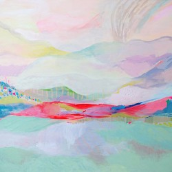 Sunrise, Acrylic on canvas, 116 cm x 150 cm, 2012. SOLD