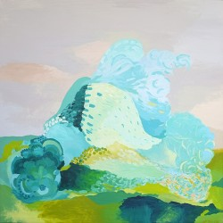 Plant generator, 150 cm x 150 cm, Acrylic on canvas, 2012. SOLD