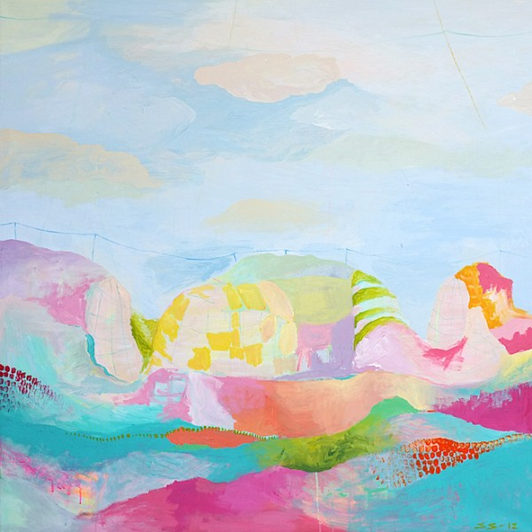 A camp / 150 cm x 150 cm / Acrylic on canvas / 2012