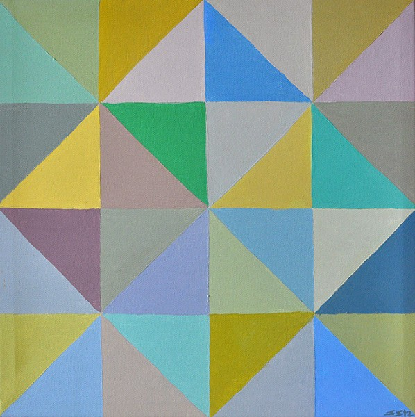 "Untitled from the series ""Slices"", acrylic on canvas, 42 cm x 42 cm, 2012"