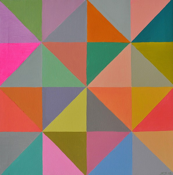 "Untitled from the series ""Slices"", acrylic on canvas, 45 cm x 45 cm, 2012"