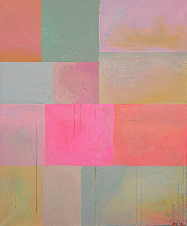 On the right way, Oil and acrylic on canvas, 140 cm x 116 cm, 2012