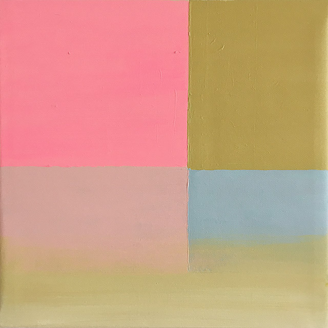 Fade away, Acrylic on canvas, 32 cm x 32 cm, 2018