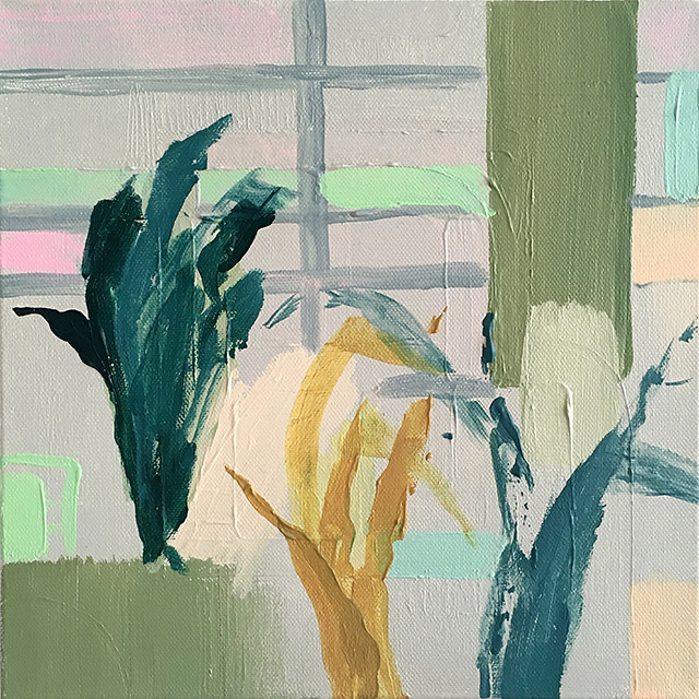 Winter Garden, acrylic on canvas, 30 cm x 30 cm, 2019.