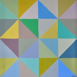 """Untitled from the series """"Slices"""", acrylic on canvas, 42 cm x 42 cm, 2012"""