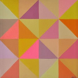 """Untitled from the serie """"Slices"""", acrylic on canvas, 42 cm x 42 cm, 2012"""